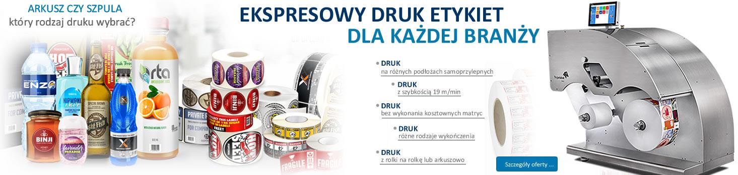 druk etykiet samoprzylepnych - etykieton24.pl