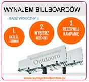 Wynajem billboardów, Wynajem tablic reklamowych, Wynajem nośników reklamowych, Portal www.wynajembilbordow.pl, Oferta dzierżawy bilbordów