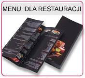 Menu dla restauracji, Menu dla barów, Menu lakierowane, menu składane menu  spiralowane, menu foliowane matowo